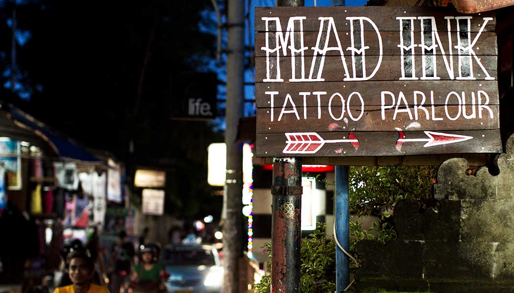 99c181fb0 Stephanie Mee dissects the business of body art in Kuta. Photos: Anthony  Dodds.