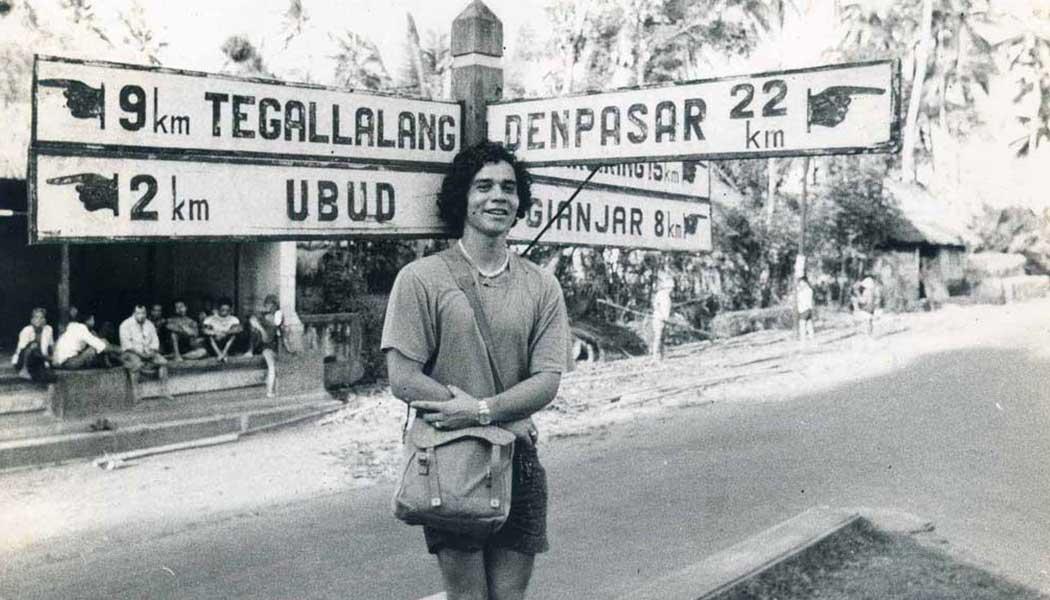 Leonard Lueras in Ubud, 1976.